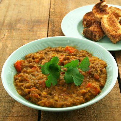 Red Lentil Carrot & Pumpkin Soup