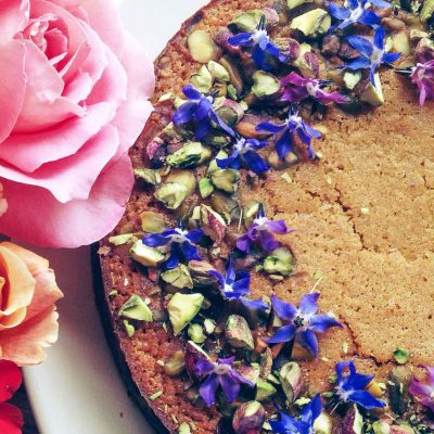 Persian love cake with pistachios