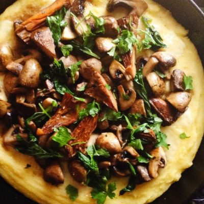 Mushroom polenta, CERES Fair Food
