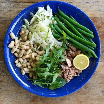 Italian style tuna bean salad