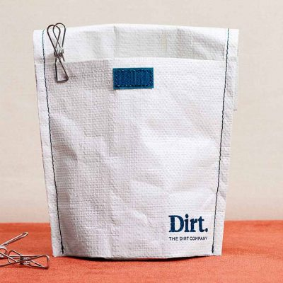 Stainless steel pegs and bag from The Dirt Company