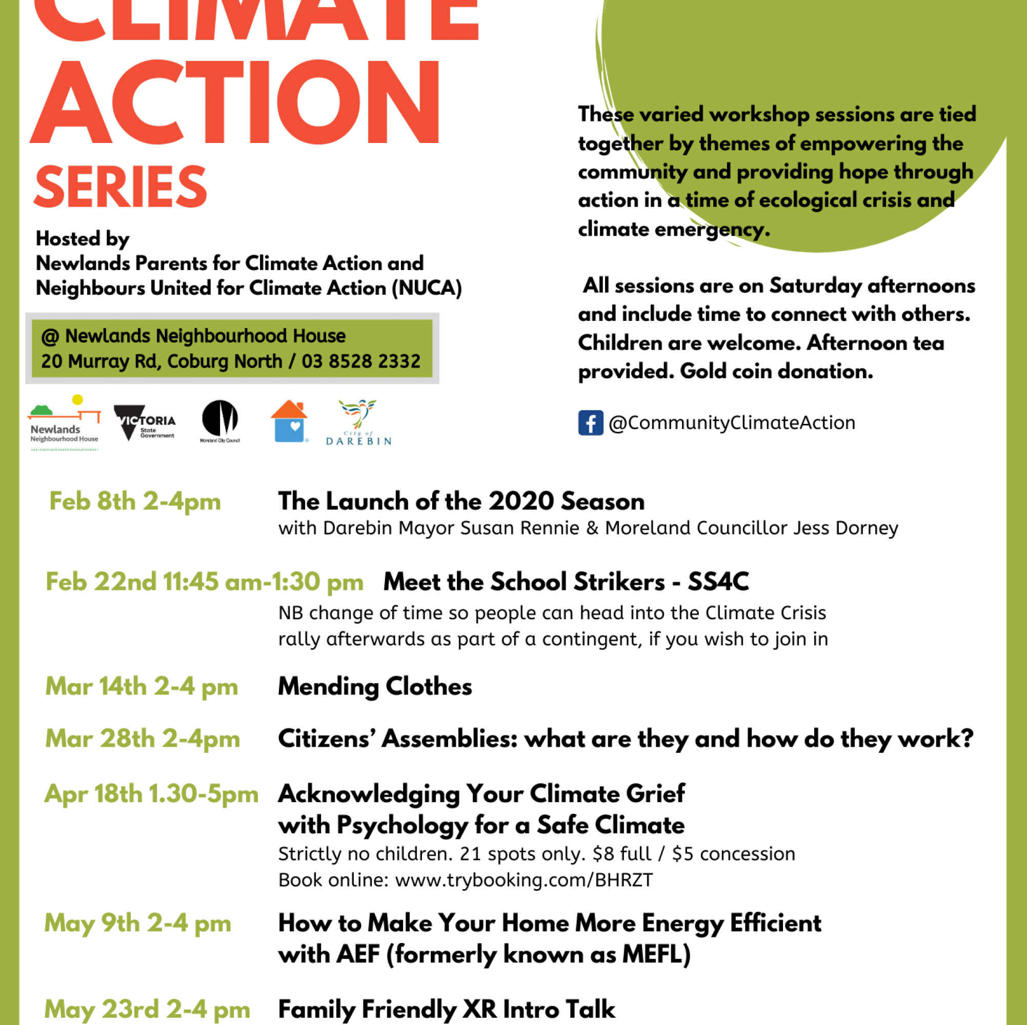 Community Climate Action series (NUCA)