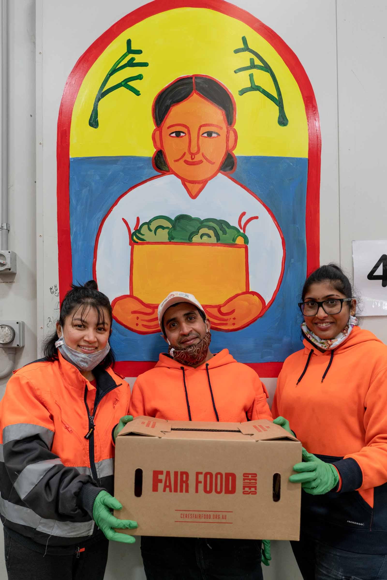 Hema, Mo, Nicky at CERES Fair Food