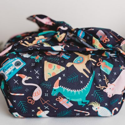 Fabric wrapping from Hello Snow Globe