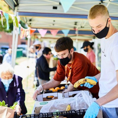 Open Table's weekly food relief market