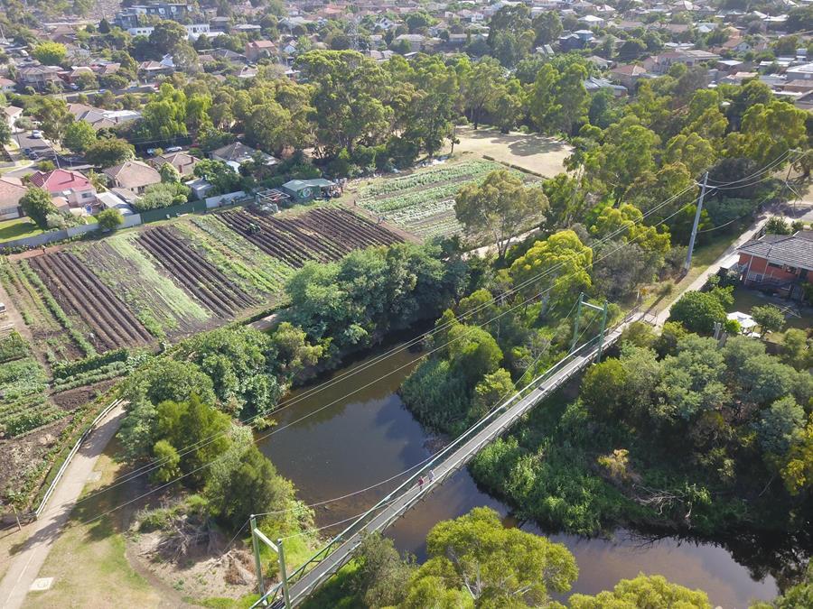 Aerial image of Joe's Garden, Coburg