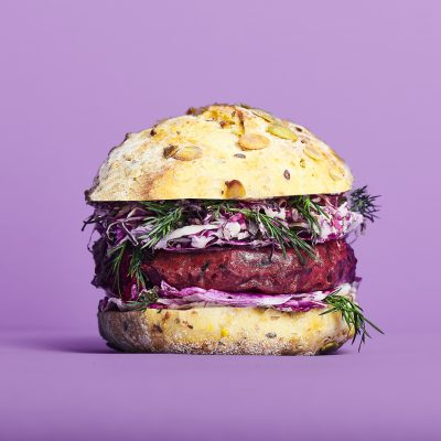 Cultiv.Ate burger patty spiced beetroot
