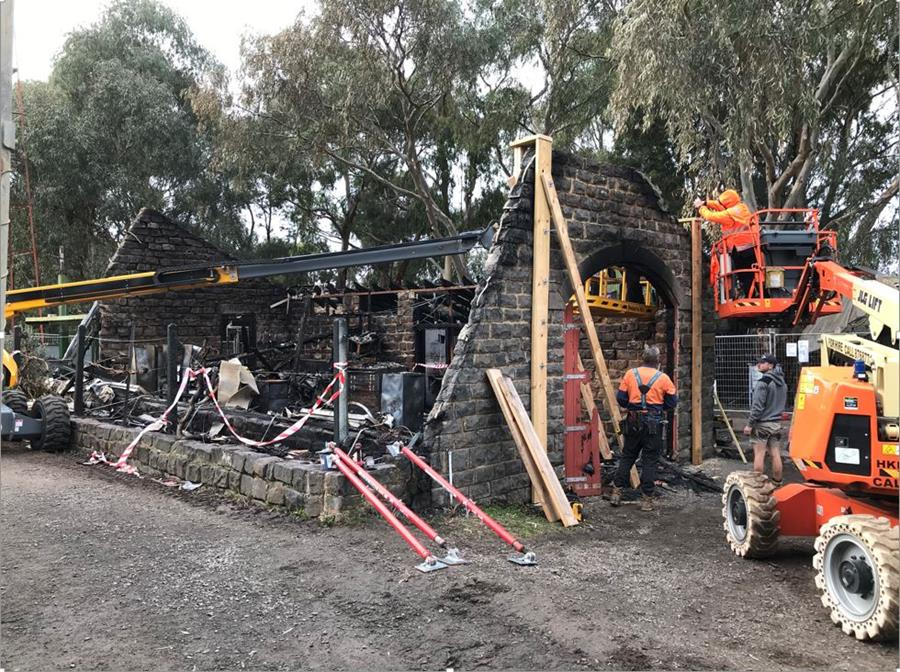 CERES Dig office made safe after fire