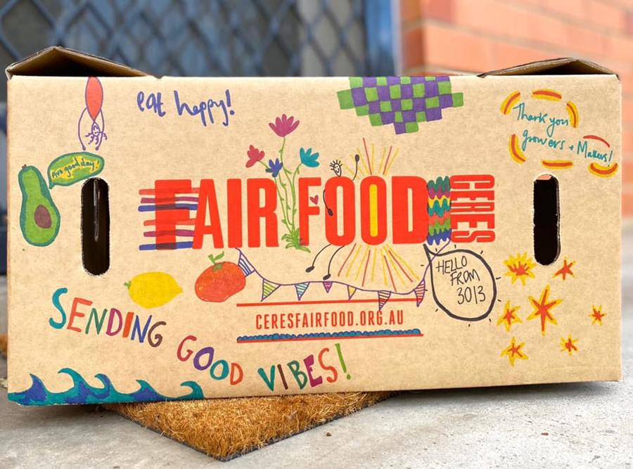 Sending box messages of joy - CERES Fair Food