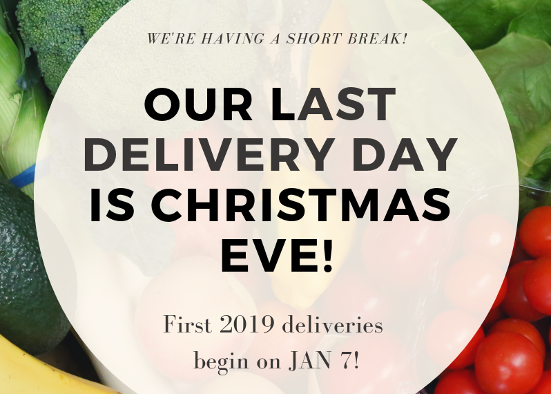 Get a feast sized delivery on Christmas eve!